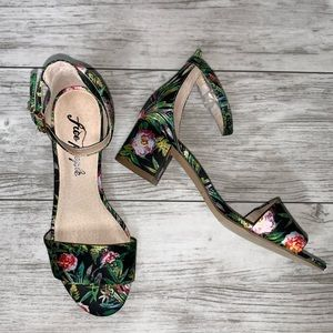 Free People Floral Print Sandals Size 36 NWOT